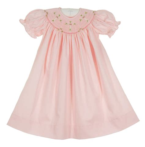 remember nguyen pink smocked dress with embroidered