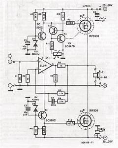 70 Watt Mosfet Audio Amplifier Circuit