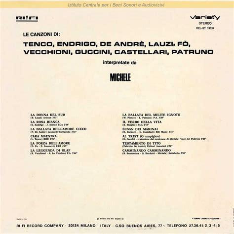 ballata dell cieco o della vanit discografia nazionale della canzone italiana