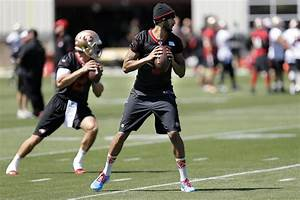 49ers' Colin Kaepernick throws during practice - SFGate