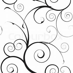 Black and white seamless floral simple background pattern