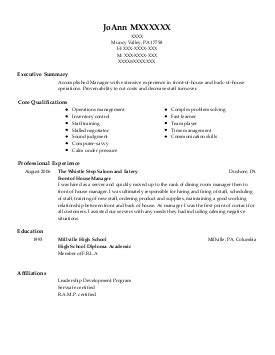 Order Processing Resume by Orders Processing Resume Exle As4u Enid Oklahoma