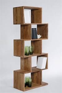 Bibliothèque Design Bois : biblioth que ouverte en bois authentico zick zack 150 by ~ Teatrodelosmanantiales.com Idées de Décoration