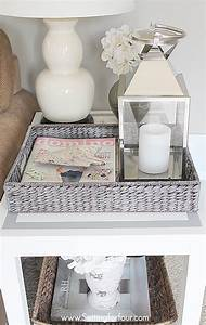 Paint a Tray with Grey Wash Finish - Setting for Four