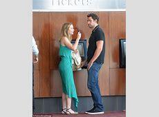 Emily Blunt and John Krasinski enjoy a movie date after