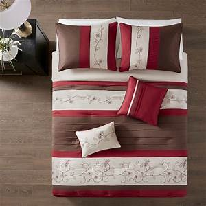 Myrtle, Red, By, Fiveten, 510, Designs, Bedding