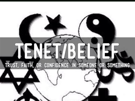 A tenet is one of the principles on which a belief or theory is based. Religion Vocab by Carli Wolpert