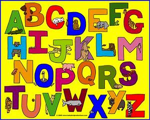 alphabets with pictures of animals on children39s clothes With children lettering