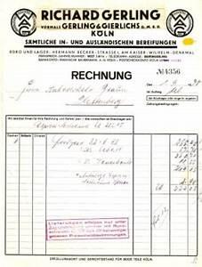 H M Rechnung : rechnung richard gerling vormals gerling gierlichs g m b h k ln bereifung autoreifen 1930 ~ Themetempest.com Abrechnung