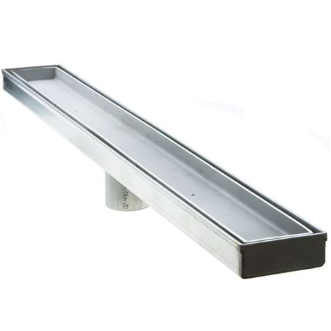 linear drain bathroom sink luxe linear drains 40ti satin stainless 40 quot tile insert