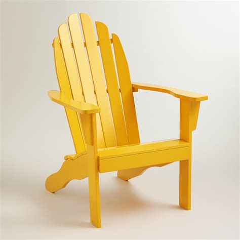 golden rod yellow classic adirondack chair world market