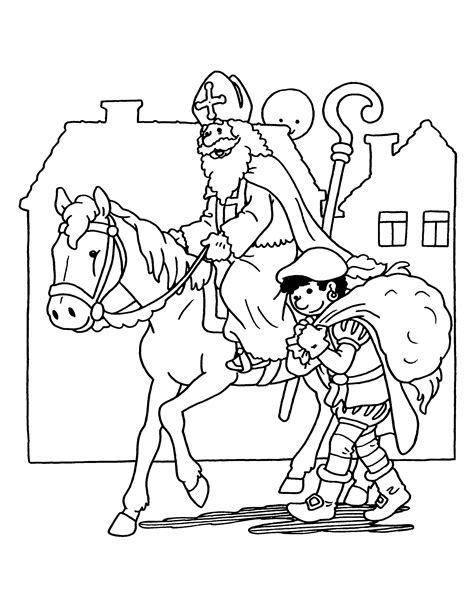 Kleurplaat Piet En Sint by Kleurplaten Sint En Piet Nieuwe Kleurplaat Sinterklaas
