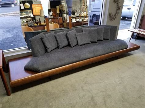 amazing mid century modern floating sofa  built  side tables  adrian pearsall  peg