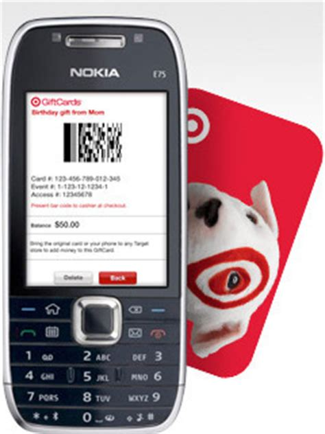 target lets you carry gift cards on your cell phone aol