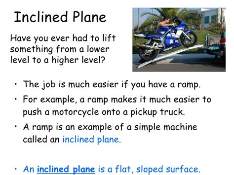 Simple Machine Inclined Plane Examples