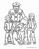 Coloring Pages Police Printable sketch template