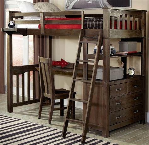 loft bed with desk highlands twin loft bed with desk 11070nd ne kids