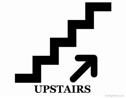 Downstairs Printable Upstairs Sign Signs Coloring Clip