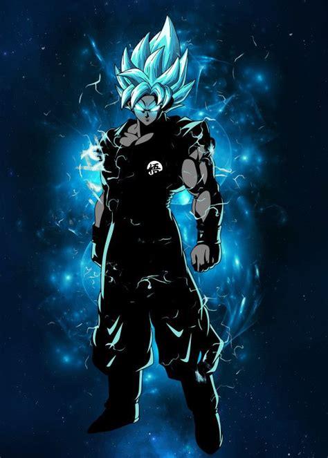 displate poster dragon ball super goku super saiyan blue