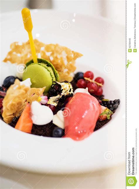 desserte haute cuisine gourmet dessert
