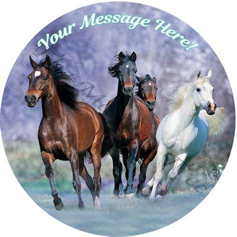 edible horses running cake topper spirit personalised riding icing cupcake