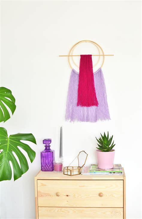 diy embroidery hoop yarn wall hanging enthralling gumption