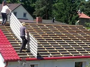 Dach Trapezblech Verlegung : fotostrecke montage von pfannenprofilblechen der dachplattenprofi ~ Whattoseeinmadrid.com Haus und Dekorationen
