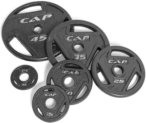 cap barbell   olympic grip weight plate set