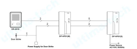 M And Intercom Wiring Diagram by Commax 1 To 2 Audio Intercom 1 Doorbell 2 Audio Phones