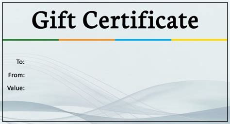 business gift certificate templates word psd ai