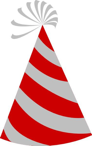 red and grey party hat clip art at clker com vector clip art online royalty free public domain