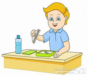 School Clipart - boy-eating-sandwich-from-lunch-box ...