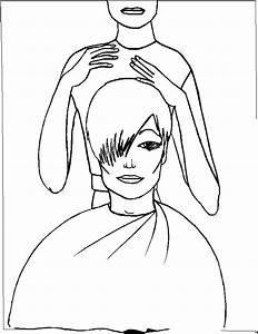 Friseur Frisiert Frau Ausmalbild Malvorlage Kinder