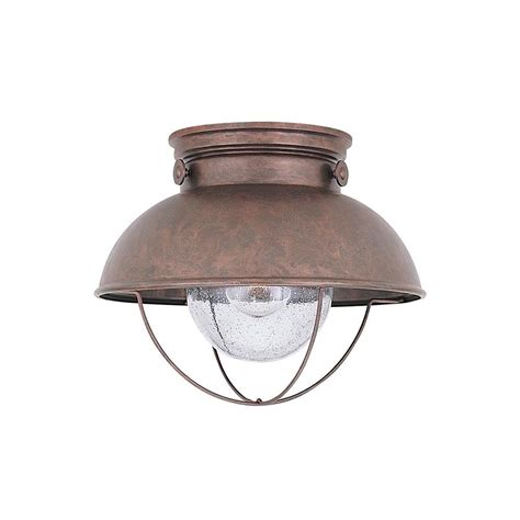 led sebring nautical outdoor ceiling mount  copper