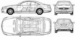 2007 mercedes benz cl 500 coupe blueprints free outlines With mercedes benz s cl