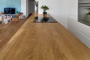 Protege Plan De Travail : am nager une cuisine avec un lot sur mesure en ch ne massif ~ Premium-room.com Idées de Décoration