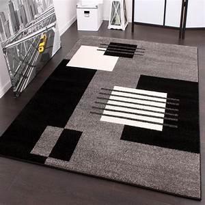Teppich Schwarz Weiß : designer teppich karo stil in grau schwarz weiss top ~ A.2002-acura-tl-radio.info Haus und Dekorationen