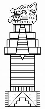 Totem Pole Coloring Printable Templates Printablee sketch template
