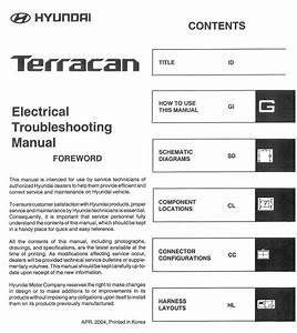 Hyundai Terracan 2005 Electrical Troubleshooting Manual
