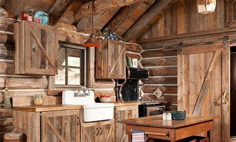 Gorgeous rustic log cabin kitchen from Off Grid World