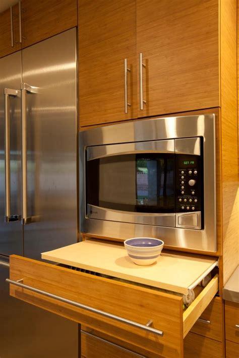modern kitchen cabinets  microwave  pull  shelf
