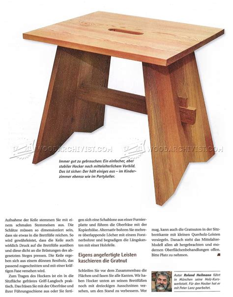 stool plans woodarchivist