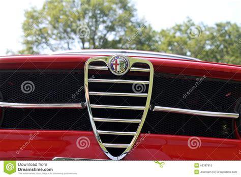 Classic Sporty Alfa Romeo Front View Editorial Photo