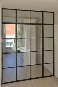 Glastrennwand Mit Schiebetür : astreine glastrennwand im industrie look ~ Frokenaadalensverden.com Haus und Dekorationen