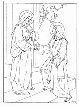 Coloring Annunciation Pages Feast Days Printable Getcolorings Print sketch template