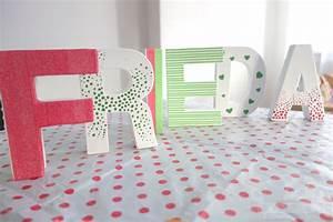 Buchstaben Deko Kinderzimmer : papp buchstaben mit serviettentechnik gestalten basteln basteln buchstaben und ~ Orissabook.com Haus und Dekorationen