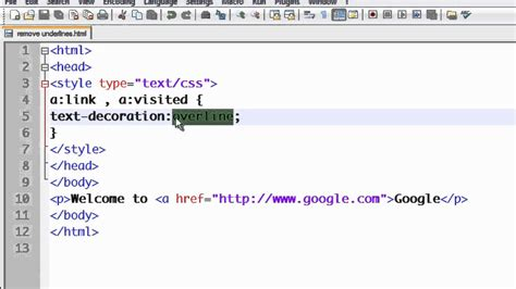 Css Tutorial Removing The Underlines From Links