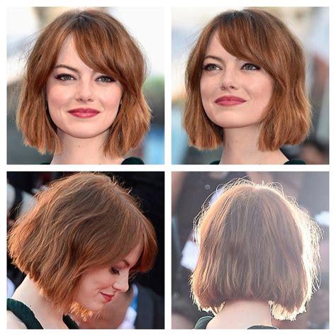 Emma Stone Rocking A Short Lob Hair Pinterest Bobs