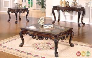 livingroom table sets ornate traditional living room occasional tables 3 set with glass tops
