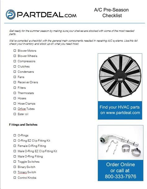 truck duty heavy parts checklist commercial